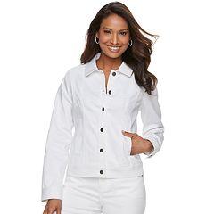 Women's Dana Buchman White Jean Jacket