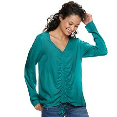 Juniors' Grayson Threads Cinch-Front Tee