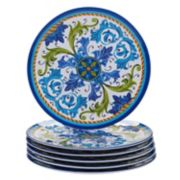 Certified International Lucca 6-piece Melamine Dinner Plate Set