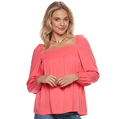 Juniors' Grayson Threads Solid Smocked Top
