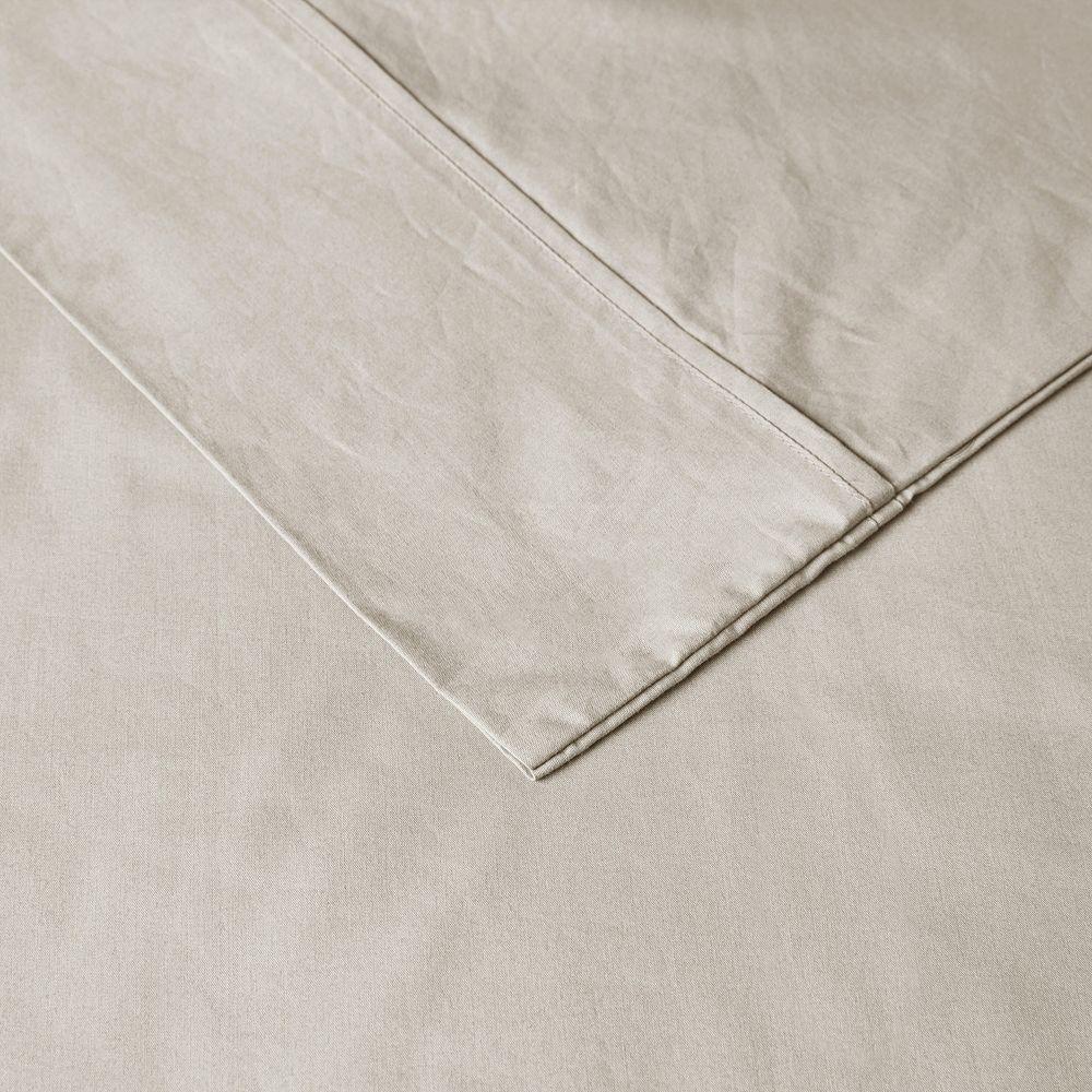 Madison Park Peached Percale Cotton Sheet Set