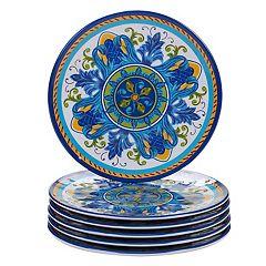 Certified International Lucca 6-piece Melamine Salad Plate Set