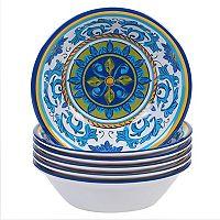 Certified International Lucca 6-piece Melamine All-Purpose Bowl Set