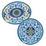 Certified International Lucca 2-piece Melamine Platter Set