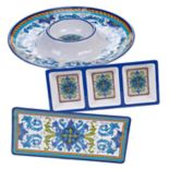 Certified International Lucca 3-piece Melamine Hostess Set