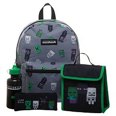 Kids Minecraft Backpack, Lunchbox, Pencil Case & Watter Bottle Set