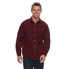 Men's SONOMA Goods for Life™ Modern-Fit Long Sleeve Double Weave Button-Down Shirt