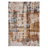World Rug Gallery Portofino Contemporary Distressed Abstract Rug