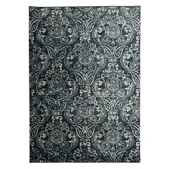 World Rug Gallery Portofino Transitional Distressed Floral Rug