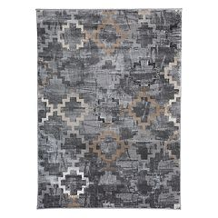 World Rug Gallery Portofino Contemporary Distressed Geometric Rug