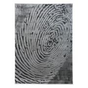 World Rug Gallery Portofino Fingerprint Contemporary Abstract Rug