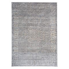 World Rug Gallery Portofino Traditional Distressed Framed Floral Rug