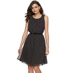 Women's ELLE™ Print Pleated Fit & Flare Dress