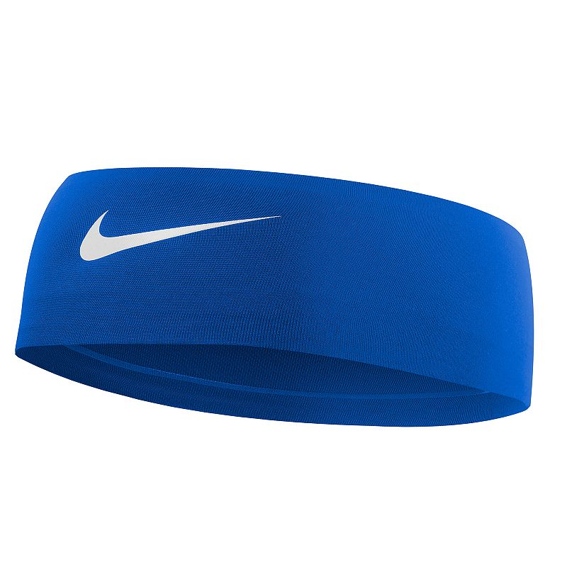 Nike Fury 2.0 Headband, Women's, Blue Keep your hair under control and the sweat off your brow with this classically styled Nike Fury headband. Dri-FIT moisture-wicking technology No-slip silicone grips Embossed swoosh logo FIT & Sizing 2.5-in. width 17.3-in. circumference Fabric & Care Polyester, spandex, silicone Machine wash Imported Size: Onesize. Color: Navy. Gender: Female. Age Group: Adult.