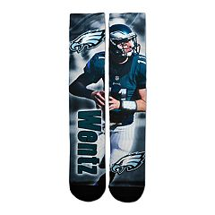 Men's Philadelphia Eagles Carson Wentz Player Montage Crew Socks