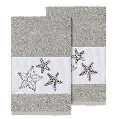 Linum Home Textiles Lydia Embellished Hand Towel Set
