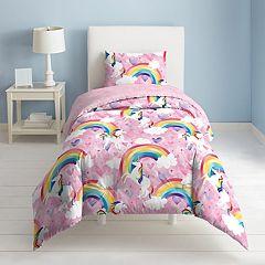 Dream Factory Unicorn Rainbow Comforter Set
