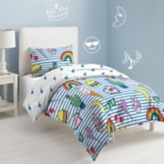 Dream Factory Peace & Lightning Comforter Set