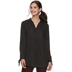 Women's ELLE™ Tie-Hem Splitneck Tunic