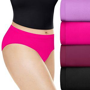 Women's Playtex 4-Pack Ultra Light Hipster Panty PLULHS