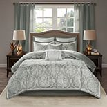 Madison Park Waylon 8-piece Jacquard Comforter Set