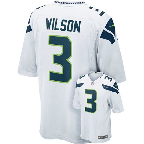 online store fc328 b700a Men's Nike Seattle Seahawks Russell Wilson Game NFL Replica ...