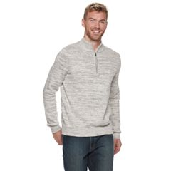 Men's Van Heusen Classic-Fit Heather Quarter-Zip Pullover