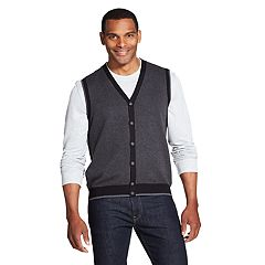 Men's Van Heusen Classic-Fit Button-Front Sweater Vest