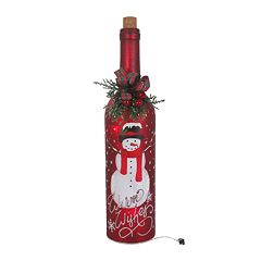 St. Nicholas Square® Red Light-Up Wine Bottle Christmas Table Decor