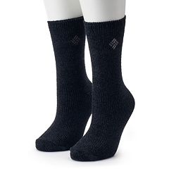 Women's Columbia 2-Pack Chenille Crew Socks