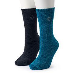 Women's Columbia 2-Pack Chenille Crew Socks