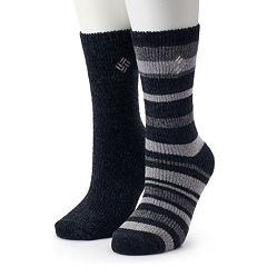 Women's Columbia 2-Pack Chenille Striped Crew Socks