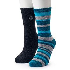 Women's Columbia 2-Pack Chenille Striped Crew Socks
