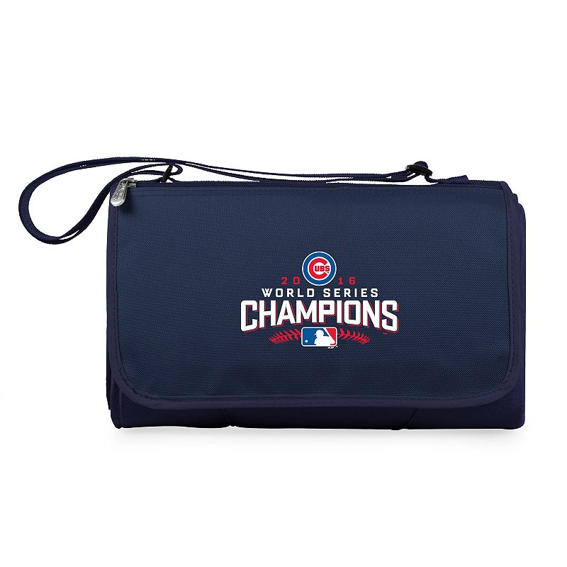 Picnic Time Chicago Cubs 2016 World Series Champions Blanket Tote. Blue