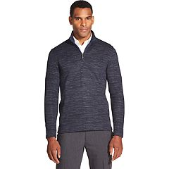Men's Van Heusen Never Tuck Slim-Fit Fleece Quarter-Zip Sweater