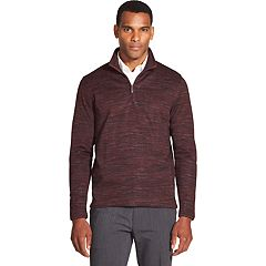 Men's Van Heusen Slim-Fit Fleece Quarter-Zip Sweater