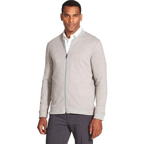 Men's Van Heusen Never Tuck Slim-Fit Fleece Bomber Jacket