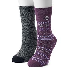 Women's Columbia 2-pk. Fairisle Thermal Crew Socks