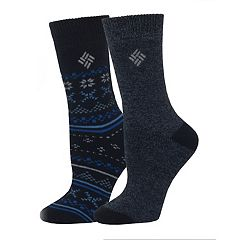 Women's Columbia 2-pk. Fairisle Thermal Crew Socks