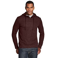 Men's Van Heusen Slim-Fit Never Tuck Fleece Henley Hoodie