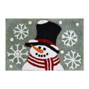 St. Nicholas Square® Christmas Traditions Snowman Bath Rug