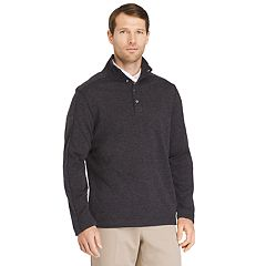 add3f7e43a3932 Men's Van Heusen Classic-Fit Flex Button Mockneck Fleece Sweater