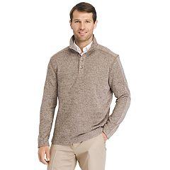 Men's Van Heusen Classic-Fit Button Mockneck Fleece Sweater