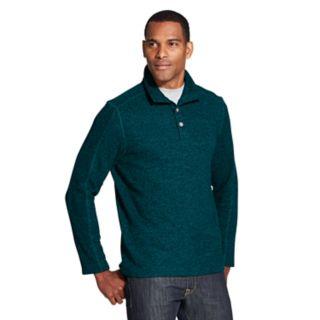 Men's Van Heusen Classic-Fit Flex Button Mockneck Fleece Sweater