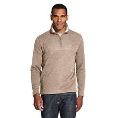 Men's Van Heusen Flex Colorblock Quarter-Zip Fleece Pullover