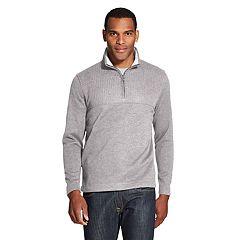 Men's Van Heusen Flex Colorblock Quarter-Zip Fleece Pullover