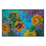 Brumlow Mills Painted Sunflowers Printed Rug
