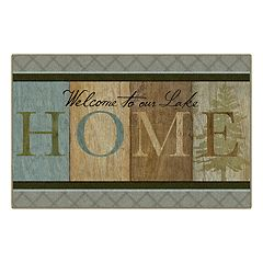 Brumlow Mills Welcome to our Lake Home Printed Rug