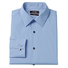 Men's Apt. 9® Extra-Slim Solid Stretch Dress Shirt