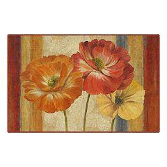 Brumlow Mills Poppy Tapestry Stripes Printed Rug